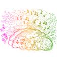 Right Brain hemisphere vector image vector image