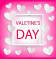 romantic background happy valentines day vector image vector image