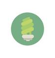 saving light bulb green energy block icon vector image vector image