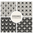 Seamless BW Square Lines Geometric Pattern vector image