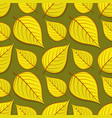 seamless pattern with linden autumn leaves vector image