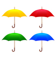 Set Colored umbrellas vector image vector image