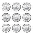 Silver coins vector image vector image