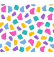 simple seamless pattern with colorful torn paper vector image vector image