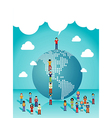 Social networks people growth vector image vector image
