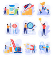 successful business career concept flat style vector image