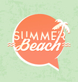 Summer Beach Calligraphic Design vector image vector image