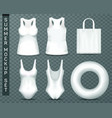 templates beach woman clothing and accessories vector image vector image