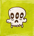 Three Eyed Skull Cartoon vector image vector image