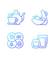 trendy kitchenware gradient linear icons set vector image vector image