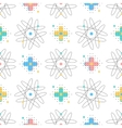 trendy seamless pattern creative geometric vector image