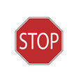 usa traffic road sign come to a completeproceed vector image