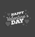 valentines day abstract background with cut paper vector image