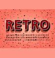 vintage alphabet 3d retro title text effect vector image vector image