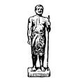 vintage engraving an ancient egyptian man vector image vector image