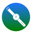 watch sign white icon in vector image