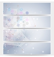 Web banners set molecular design header layout vector image