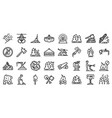 wildfire icons set outline style vector image vector image