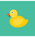 Yellow Duck Icon Animal vector image