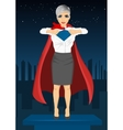 Young businesswoman dressed like super hero vector image vector image