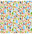 Colorful Pattern with Christmas Elements vector image