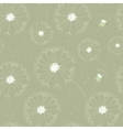 Seamless dandelions pattern vector image