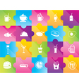 Icons of drinks and food vector image