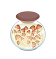 A Jar of Delicious Marinated Forest Mushrooms vector image vector image