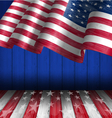 american flag for independence day 4 th july vector image vector image