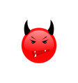 angry face angry icon furious emotion vector image