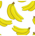 bananas hand drawn sketch seamless pattern vector image