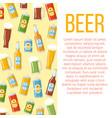 beer week colorful poster vector image vector image