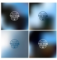 Blurred background set Winter colors vector image