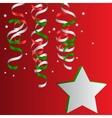 Christmas Christmas Streamers vector image