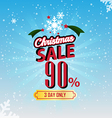 christmas sale 90 percent typographic background vector image vector image