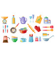 cooking icons set kitchen utensils with scales vector image vector image