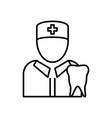 dentist doctor icon vector image vector image