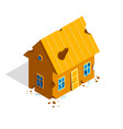 destroyed small cottage family house 3d isometric