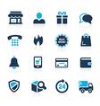E-Shopping Icons Azure vector image vector image