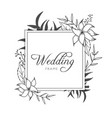 elegant floral gold wedding invitation banner vector image vector image