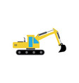 excavator icon design template isolated vector image