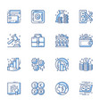 financial and banking line icons set vector image
