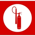 Flat Fire Extinguisher Icon with Place for vector image vector image