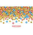 flat modern emoji conceptual background vector image vector image