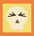 flat shading style icon halloween emotion skull vector image vector image