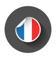 france sticker with flag with long shadow vector image vector image