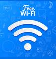 free wi-fi signal isolated abstract vector image