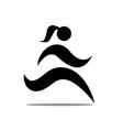 girl run logo designs simple icon modern vector image