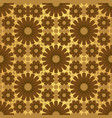 gold shiny moroccan motif tile pattern vector image vector image