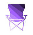 icon of fishing folding chair vector image vector image